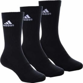 3 Stripe Performance Crew Sock 3 Pack