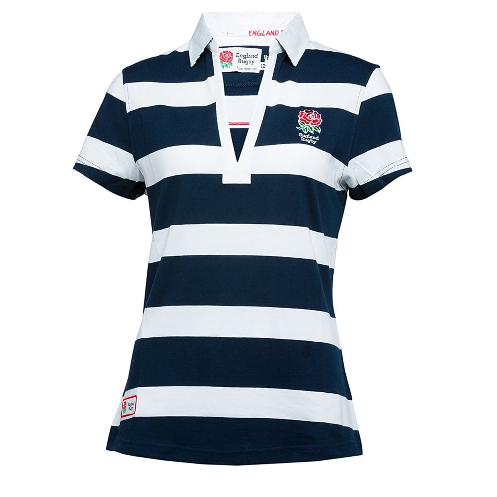 Short sleeve striped rugby shirt