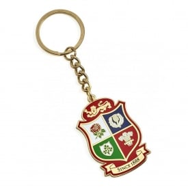 Lions Shield Logo Keyring