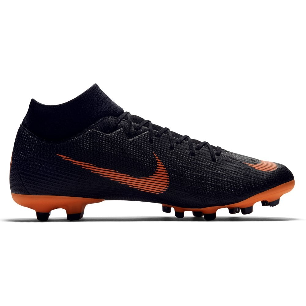 super popular cc45a 2d15d Nike Mercurial Superfly VI Academy Multi Ground Football Boots -  Black/Total Orange