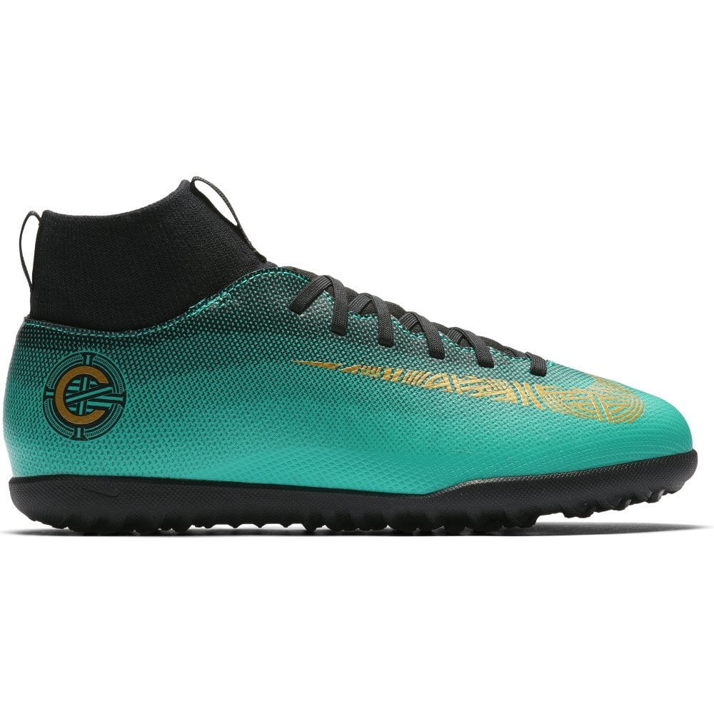 check out 64bbf 05087 Nike Mercurial Superfly VI Club CR7 Junior Turf Football Boots - Clear  Jade/Vivid Gold/Solar Red