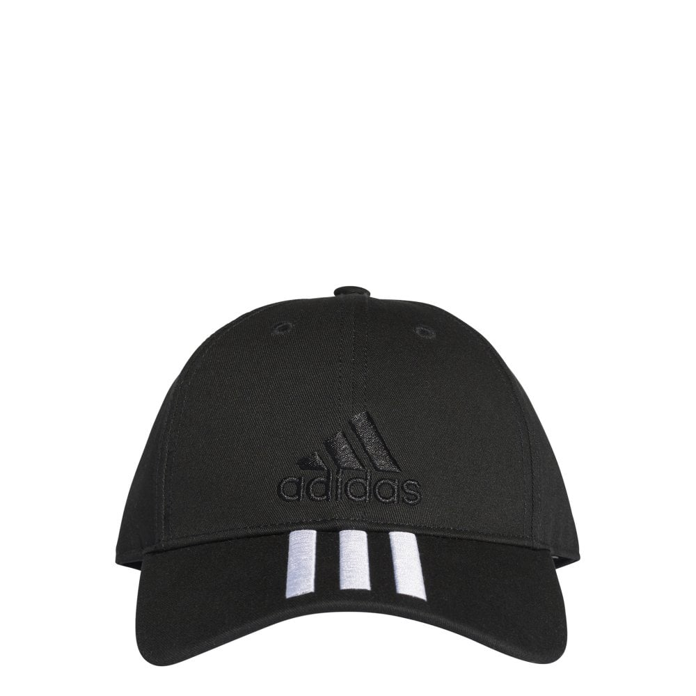 Adidas Six-Panel Classic 3-Stripes Cap - Black White Black a804263bbad